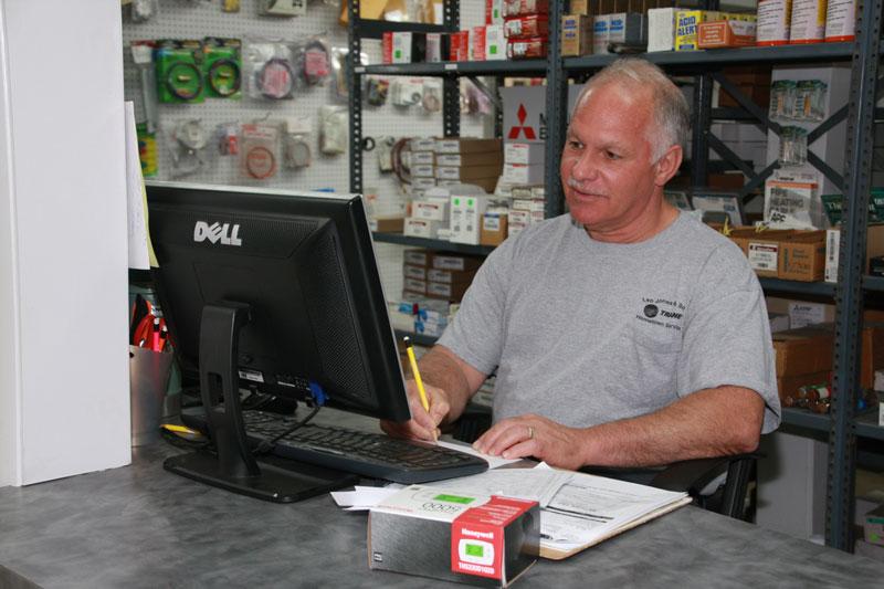 Russ Handles Parts and Warranty Dept